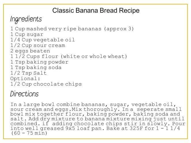 Classic Banana Bread Recipe