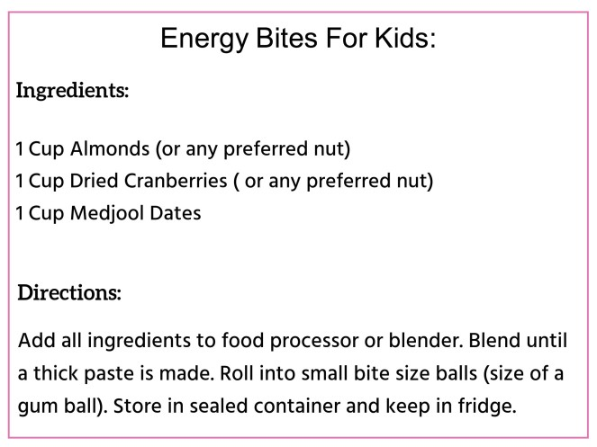 Energy Bites for kids