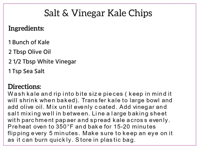 Salt and Vinegar Kale Chips Recipe Card