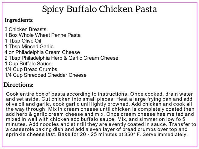 Spicy Buffalo Chicken Pasta Recipe