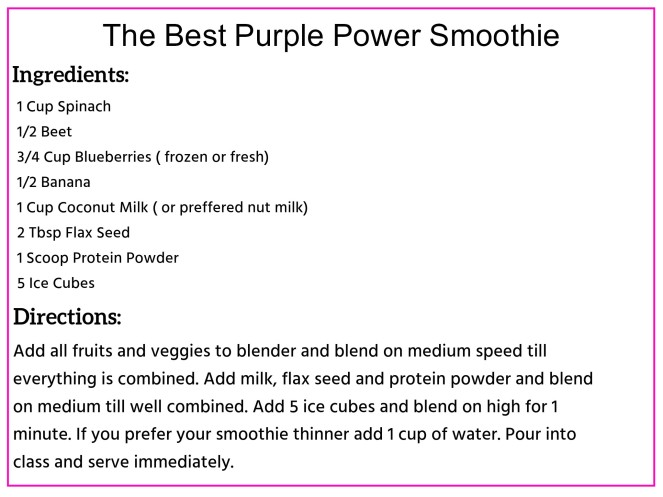 The Best Purple Power Smoothie